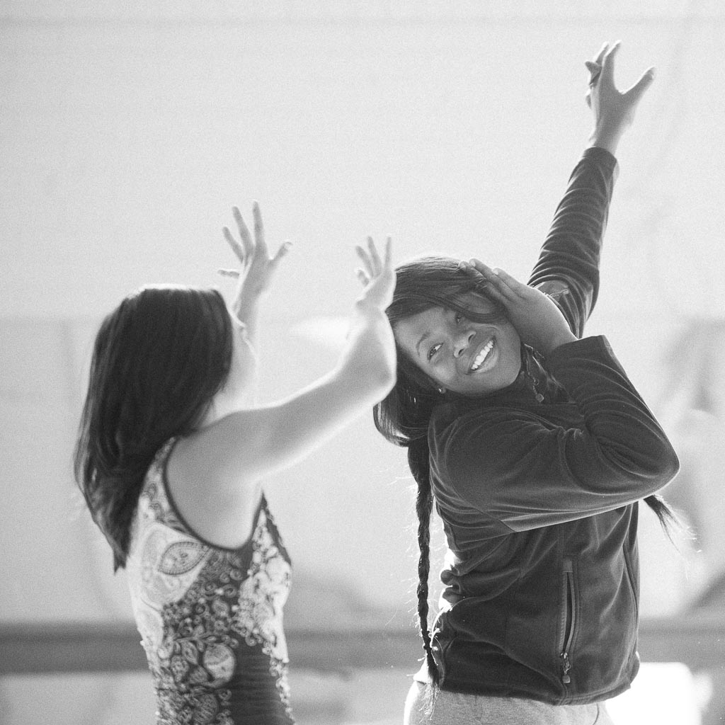 Ursula Perry and Corrine Penka of Raw Moves rehearse for Story of Eight, November 2010
