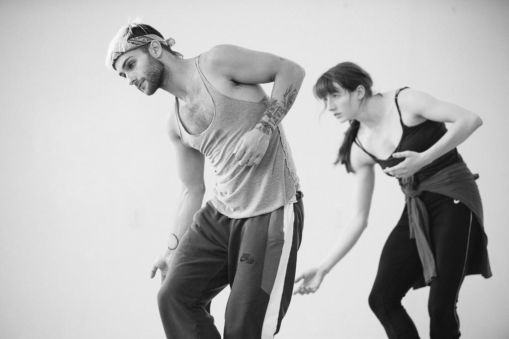 Franco Nieto and Lindsey Matheis of Northwest Dance Project rehearse Yin Yue's 'Before Dawn'