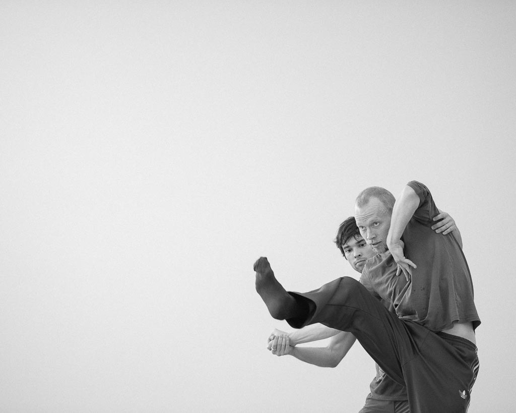 Felix Landerer choreographs with Viktor Usov of Northwest Dance project