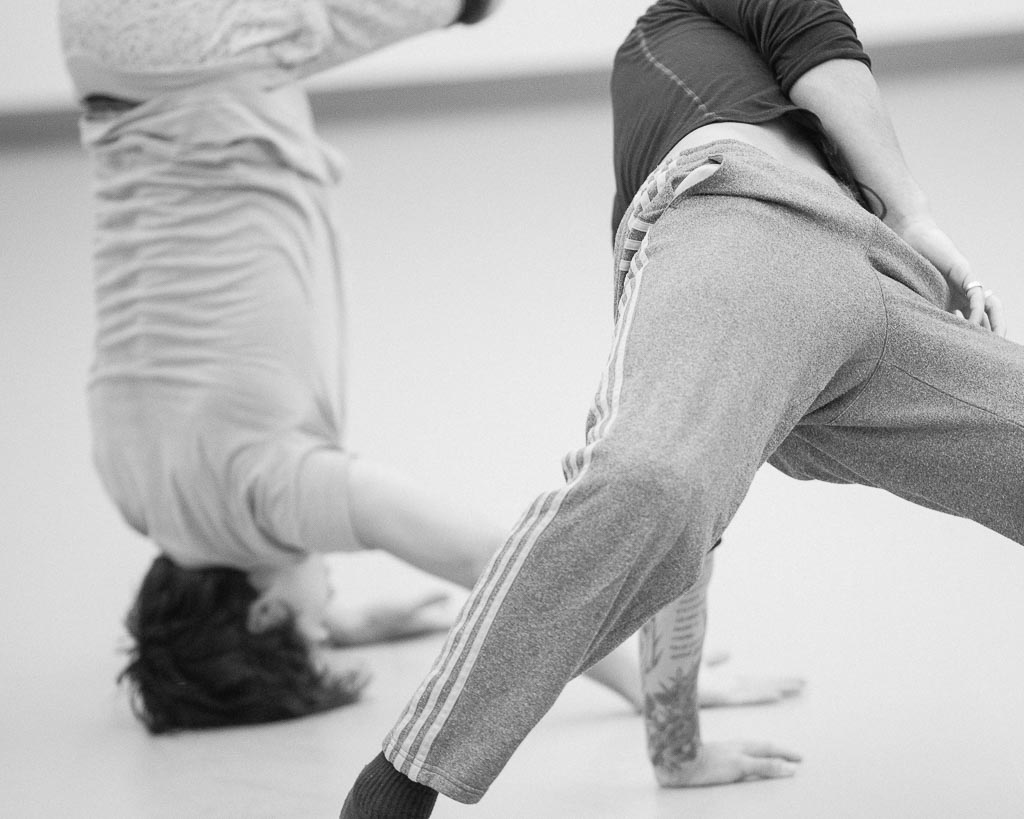 Elijah Labay and Franco Nieto rehearse at Northwest Dance Project