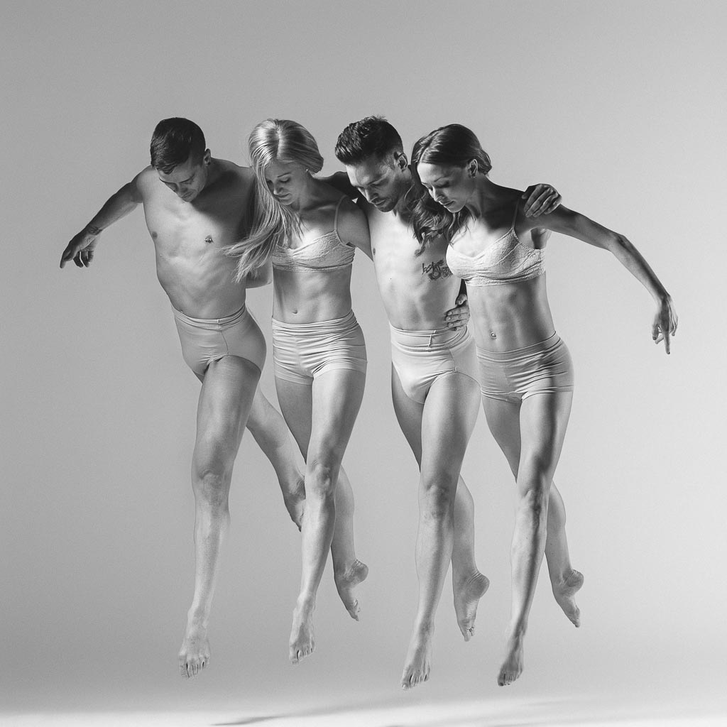 Eldon Johnson, Molly Davenport, Chase Wise, and Dayna Marshall of Odyssey Dance Theatre